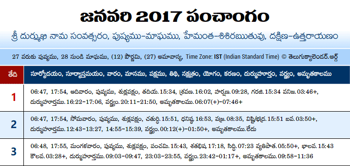 telugu calendar 2017 with festivals pdf