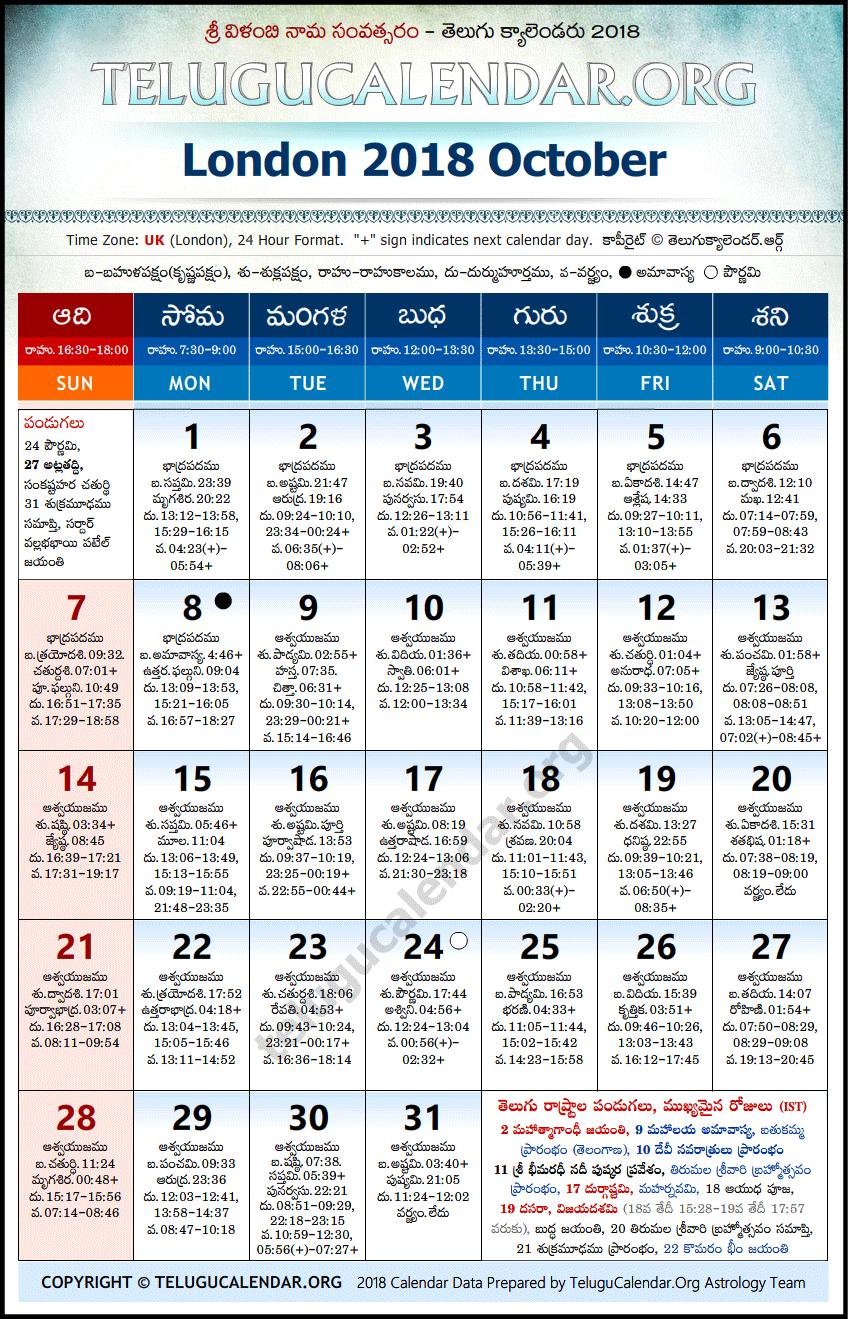 October - 2018